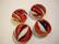 Lamppuhelmi punainen / valkoinen pyöreä litteä 20 mm
