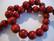 Puuhelmi karpalon punainen pyöreä 12 mm (n.34 kpl/nauha)