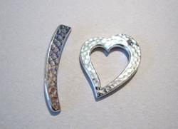 TierraCast Salpalukko hopeoitu sydän Taottu 22x19 mm/salpa 26 mm
