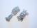 Laatikkolukko platinanvärinen 16 x 10 mm, 2 - 3 vaijerille (2 kpl/pss)