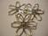 Korulinkki Kukka hopean värinen 47 mm