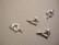 Rapulukko Sydän hopeoitu 11 x 11,5 mm + vastakappale