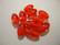 Tsekkiläinen lasihelmi tumma punainen ovaali 14 x 8 mm (10/pss)