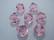 Swarovski kristallihelmi vaalean punainen bicone 10 mm (4/pss)