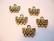 Korulinkki / nauhanpää antiikkikullanvärinen 1 + 3 lenkkiä 16 x 7 mm (4/pss)