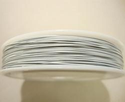 Koruvaijeri 3-säikeinen valkoinen 0,45 mm (5 m/pss)