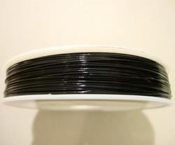 Koruvaijeri 3-säikeinen musta 0,45 mm (5 m/pss)