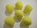 Akryylihelmi fasettiomena keltainen 20 mm