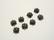 TierraCast Helmihattu Lehti musta 5 mm (4/pss)