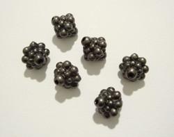 TierraCast Metallihelmi Hyrrä musta 8,5 x 7,5 mm (2 kpl/pss)