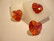 Swarovski kristalli sydänriipus punainen AB (Padparadscha) 18 mm