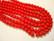 Tsekkiläinen lasihelmi opaakki punainen pyöreä 4 mm (50 kpl/pss)