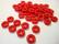 Tsekkiläinen lasihelmi opaakki punainen rondelli 8,5 x 3,5 mm (10/pss)