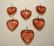 Lasiriipus Sydän punainen 13 x 15 mm (10 kpl/pss)