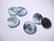Riipus Wealth and Health hopeoitu pyöreä 20 mm (6 kpl/pakkaus)