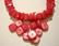 Simpukkahelmi korallin punainen kulmikas rondelli n. 8 x 4 mm (20/pss)
