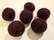 Huovutettu helmi luumun värinen/tumma violetti n. 23 mm (5 kpl/pss)