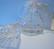 Organzapussi valkoinen tähtikuvio iso 12 x 18 cm