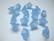 Akryylihelmi kellokukka vaalean sininen pieni 11 x 7 mm (10 kpl/pss)