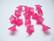 Akryylihelmi kellokukka pinkki/fuksia pieni 11 x 7 mm (10 kpl/pss)