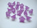 Akryylihelmi kellokukka lila pieni 11 x 7 mm (10 kpl/pss)