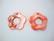 Simpukkariipus punainen Kukka 25 mm (2/pss)