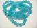 Turkoosin / veden värinen värjätty luonnonkivi pyöreä 4 mm (25/pss)