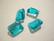 Lasihelmi suorakaide  turkoosi/veden sininen 18 x 15 mm (4/pss)