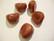 Käsintehty keramiikkahelmi punainen nuggetti n. 16 x 14 mm (2 kpl/pss)
