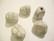 Käsintehty keramiikkahelmi luun valkoinen nuggetti n. 16 x 14 mm (2 kpl/pss)