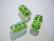 Folio lasihelmi vaalea vihreä / hopea tynnyri 16 x 10 mm (2/pss)