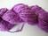 Kierrätyssilkkinauha pyöreä värjätty lila/violetti n. 1,5 - 2 mm