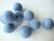Huovutettu helmi vaaleansininen/Baby Blue n. 23 mm (5 kpl/pss)