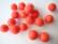 Huovutettu helmi korallinpunainen n. 10 mm (5 kpl/pss)
