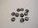 Kapussi musta kissansilmälasi puolipyöreä 6 mm (10 kpl/pss)
