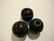 Puuhelmi musta uritettu pyöreä 20 mm (2 kpl/pss)