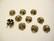 Helmihattu Kukka pronssinvärinen n. 8 mm  (10 kpl/pss)