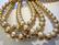 Helmiäislasihelmi vaalea kulta 8 mm (50 kpl/pss)