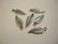 Riipus Lehti hopeoitu 20 x 7 mm (6 kpl/pss)