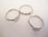 Sormuspohja säädettävä hopeoitu kapussille, pohjan halkaisija 8 mm (4 kpl/pss)