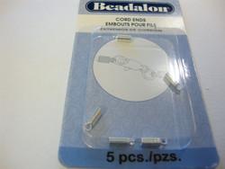 Beadalon nauhanpää hopeoitu 8 mm (5 kpl/pss)