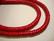 Kookos donitsi kirkas punainen  8 mm (30 cm nauha)