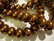 Helmiäislasihelmi pronssinvärinen rondelli 12 x 8 mm (10 kpl/pss)