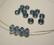 Swarovski kristallihelmi denim sininen rondelli 4 x 6 mm (4/pss)