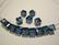 Swarovski kristallihelmi denim sininen kuutio 6 mm (2/pss)