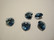 Swarovski kristalli sydänriipus denim sininen 14 mm