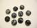 Kapussi musta (Snow Obsidian) puolipyöreä 8 mm (10 kpl/pss)