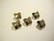 Swarovski kristallihelmi / riipus pronssi perhonen 13 x 11 mm