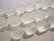 Huurrelasihelmi valkoinen/kirkas nuggetti 10 - 15 mm (7 kpl/nauha)