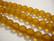 Huurrelasihelmi meripihkan ruskea 8 mm (n. 22 kpl/nauha)